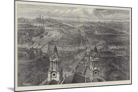 View of London from St Paul's, on Lord Mayor's Day--Mounted Giclee Print