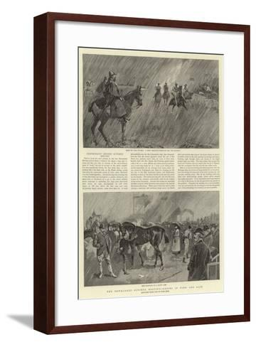 The Newmarket October Meeting, Racing in Wind and Rain--Framed Art Print