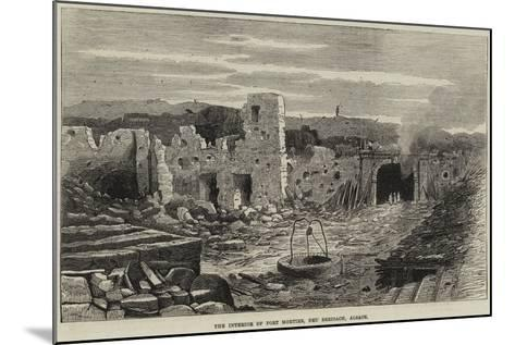 The Interior of Fort Mortier, Neu Breisach, Alsace--Mounted Giclee Print