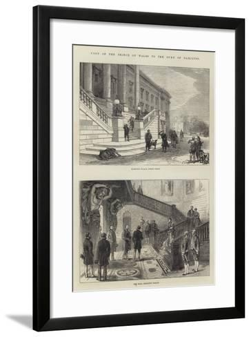 Visit of the Prince of Wales to the Duke of Hamilton--Framed Art Print
