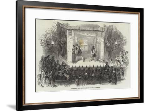 Westminster Play, Scene from the Andria of Terence--Framed Art Print