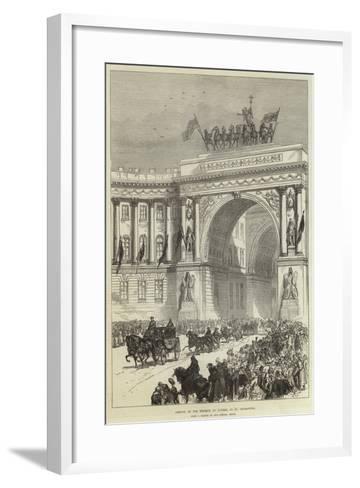 Arrival of the Emperor of Austria at St Petersburg--Framed Art Print
