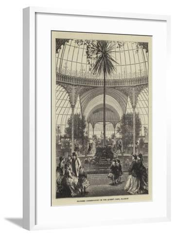 Proposed Conservatory in the Queen's Park, Glasgow--Framed Art Print