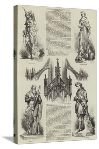 Waverley Ball, Edinburgh, Statues for the Scott Monument--Stretched Canvas Print