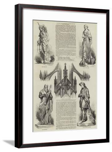Waverley Ball, Edinburgh, Statues for the Scott Monument--Framed Art Print