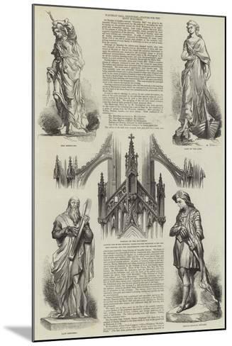 Waverley Ball, Edinburgh, Statues for the Scott Monument--Mounted Giclee Print