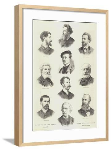 Opening of the Paris Salon, Some Living French Painters--Framed Art Print
