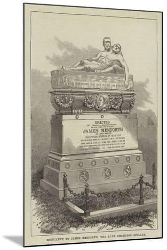 Monument to James Renforth, the Late Champion Sculler--Mounted Giclee Print