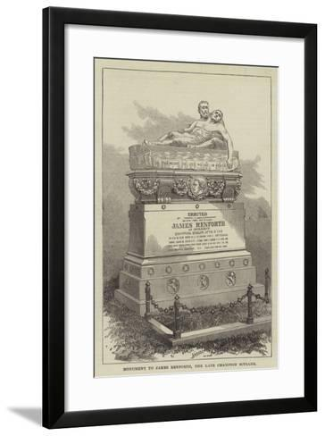 Monument to James Renforth, the Late Champion Sculler--Framed Art Print