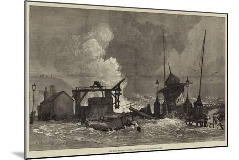 The Late Storms, Partial Destruction of Hastings Pier--Mounted Giclee Print