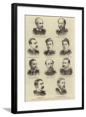 British Officers Engaged in the Zulu and Afghan Wars--Framed Art Print