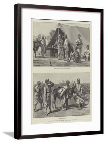 An Indian Army Camp of Exercise in the Madras Presidency--Framed Art Print