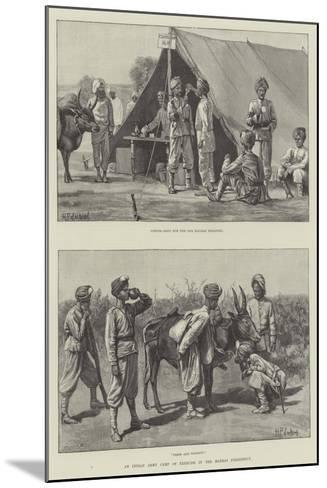 An Indian Army Camp of Exercise in the Madras Presidency--Mounted Giclee Print