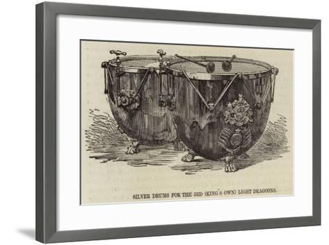 Silver Drums for the 3rd (King's Own) Light Dragoons--Framed Art Print
