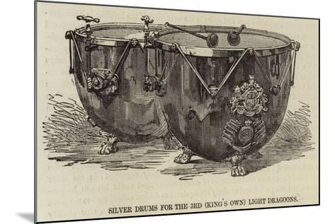 Silver Drums for the 3rd (King's Own) Light Dragoons--Mounted Giclee Print