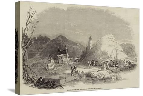 Scene of the Late Gun-Cotton Explosion at Faversham--Stretched Canvas Print