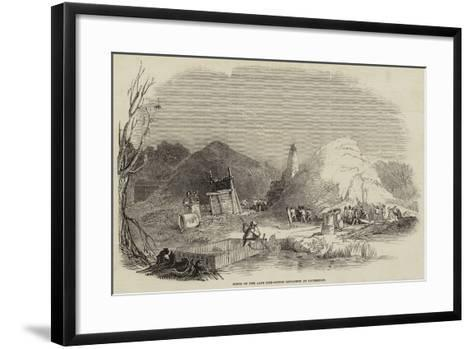 Scene of the Late Gun-Cotton Explosion at Faversham--Framed Art Print