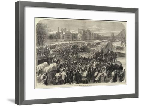 The Capitulation of Paris Scene on the Bridge of Neuilly--Framed Art Print