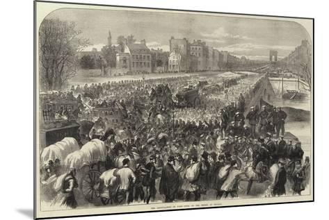 The Capitulation of Paris Scene on the Bridge of Neuilly--Mounted Giclee Print