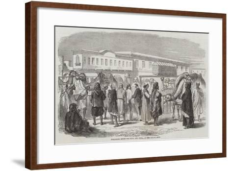 Unloading Specie for India and China, at the Wharf, Suez--Framed Art Print