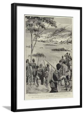 The Turkish Advance in Thessaly, Velestino in Flames--Framed Art Print