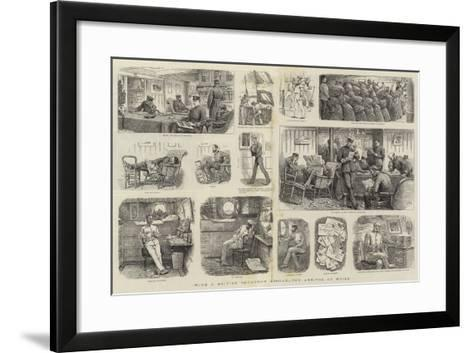 With a British Squadron Abroad, the Arrival of Mails--Framed Art Print