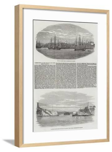 Commencement of the European and North American Railway--Framed Art Print