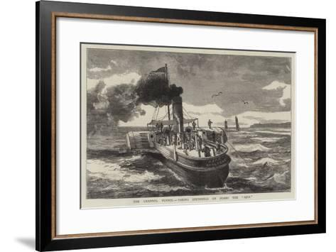 The Channel Tunnel, Taking Soundings on Board the Ajax--Framed Art Print