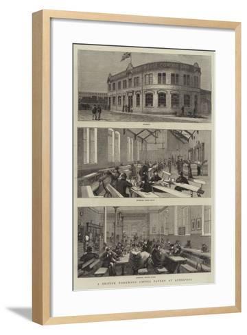 A British Workman's Coffee Tavern at Liverpool--Framed Art Print