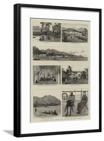 A Pleasure Trip Among the Islands of the Pacific--Framed Art Print
