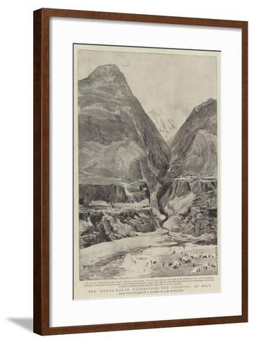 The Hunza-Nagar Expedition, the Fighting at Nilt--Framed Art Print