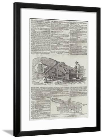 The American Thrashing and Separating Machine--Framed Art Print