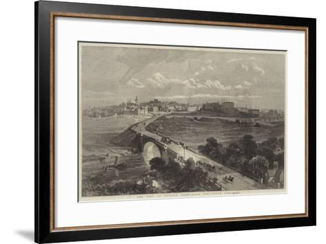 The City of Chester, View from the South Side--Framed Art Print