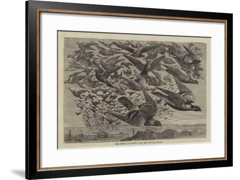 The Flight of Pigeons from the Crystal Palace--Framed Art Print