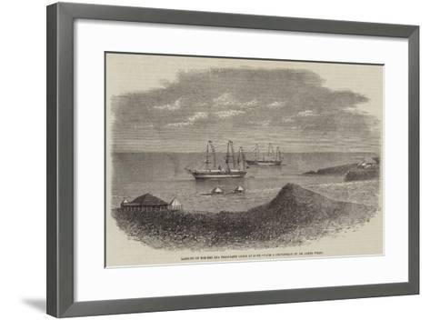 Landing of the Red Sea Telegraph Cable at Aden--Framed Art Print