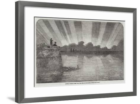 Aurora Borealis, Seen from the Pier, at Boulogne--Framed Art Print