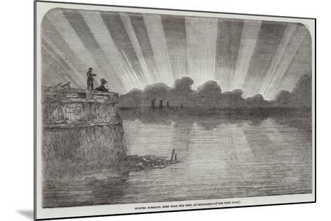 Aurora Borealis, Seen from the Pier, at Boulogne--Mounted Giclee Print