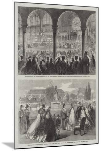 Inauguration of the Exhibition Memorial of 1851--Mounted Giclee Print