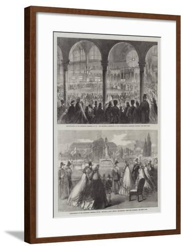 Inauguration of the Exhibition Memorial of 1851--Framed Art Print