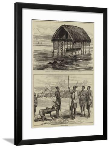 Lieutenant Cameron's Sketches in Central Africa--Framed Art Print