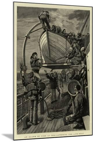 An Alarm of Fire at Sea, Lowering the Life-Boat--Mounted Giclee Print