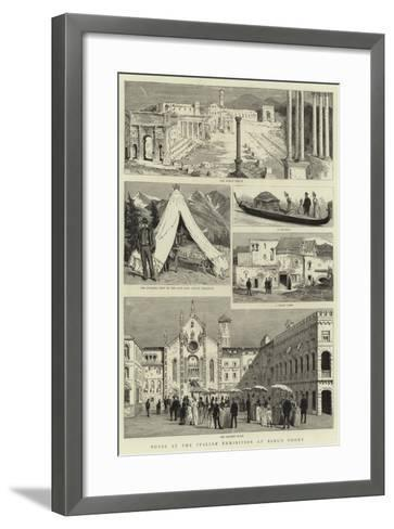 Notes at the Italian Exhibition at Earl's Court--Framed Art Print