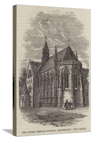 The Clergy Orphan Schools, Canterbury, the Chapel--Stretched Canvas Print