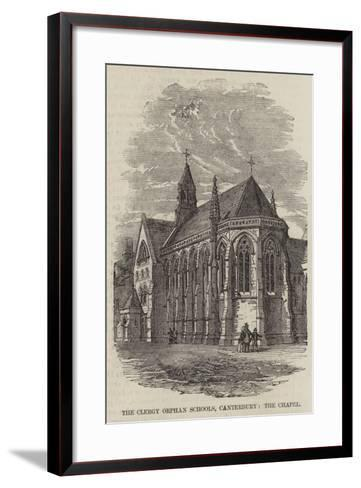 The Clergy Orphan Schools, Canterbury, the Chapel--Framed Art Print