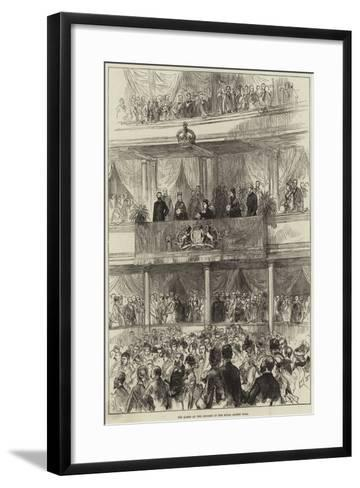 The Queen at the Concert in the Royal Albert Hall--Framed Art Print