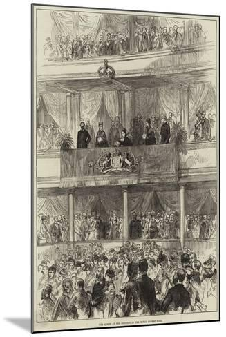 The Queen at the Concert in the Royal Albert Hall--Mounted Giclee Print