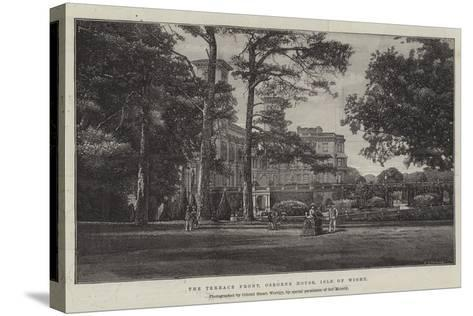 The Terrace Front, Osborne House, Isle of Wight--Stretched Canvas Print