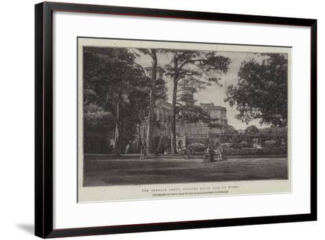 The Terrace Front, Osborne House, Isle of Wight--Framed Art Print