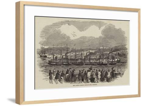New Landing Stage St George's Pier, Liverpool--Framed Art Print