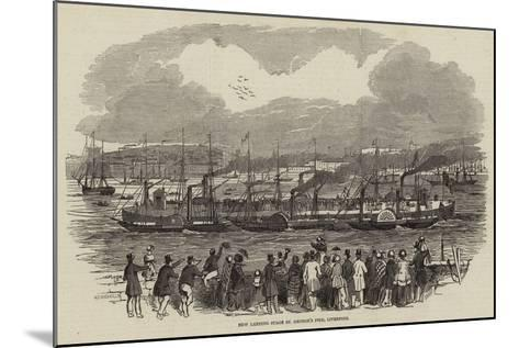 New Landing Stage St George's Pier, Liverpool--Mounted Giclee Print